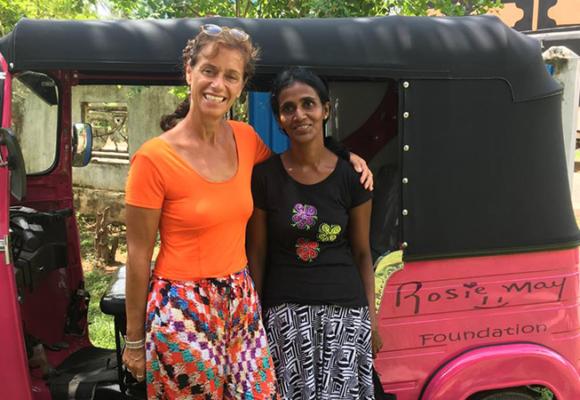 Charity thinks pink to help single mums through tuk tuk scheme