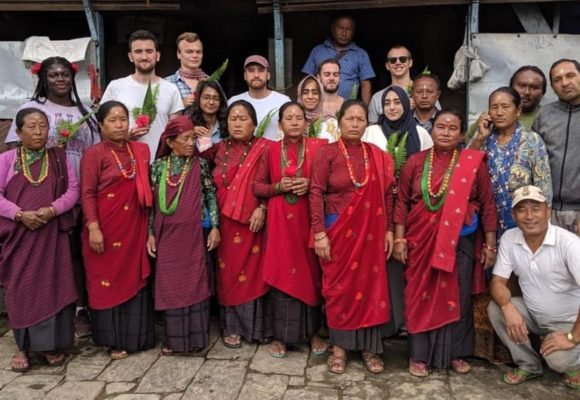 Research Interns from the University of Nottingham visit Bhadaure Mountain Village in rural Nepal