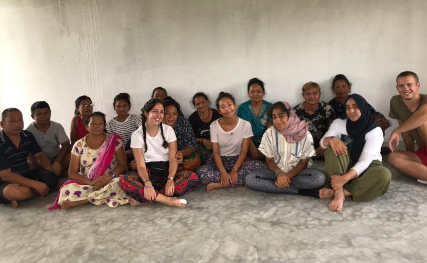 Research interns from the University of Nottingham meet female farmers inNepal