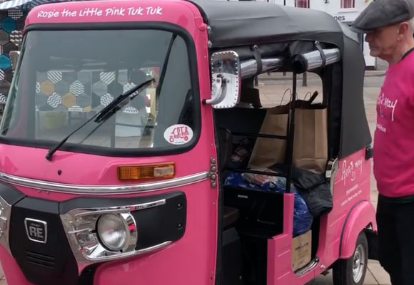 Putting Rosie the Little Pink Tuk Tuk to good use